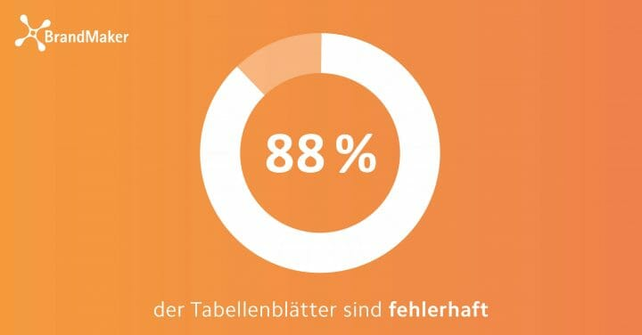 88 % der Tabellenblätter sind fehlerhaft